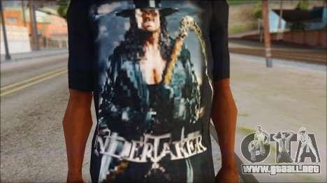 Undertaker T-Shirt v2 para GTA San Andreas tercera pantalla