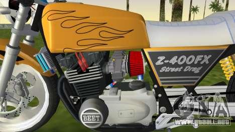 Kawasaki Z400FX Street Drag Racer para GTA Vice City vista lateral izquierdo