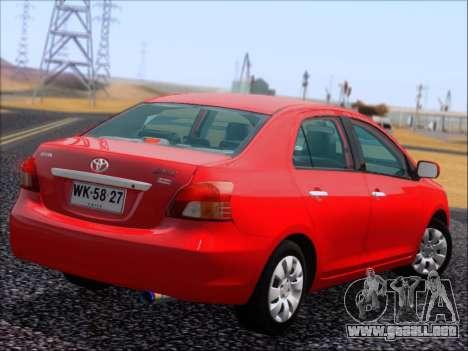 Toyota Yaris 2008 Sedan para visión interna GTA San Andreas