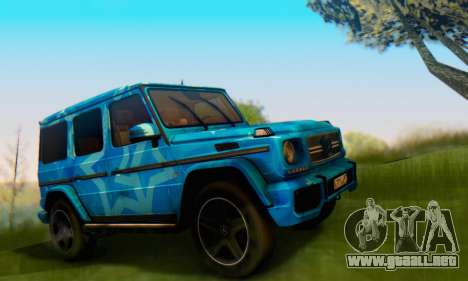 Mercedes-Benz G65 Blue Star para la visión correcta GTA San Andreas