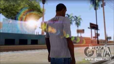 Tribal tee Mouse Inked White T-Shirt para GTA San Andreas segunda pantalla