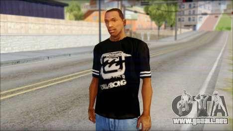 Billabong T-Shirt Black para GTA San Andreas