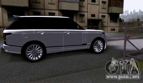 Land Rover Range Rover Startech para GTA San Andreas vista posterior izquierda