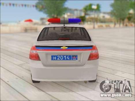 Chevrolet Aveo Policía no molestar para la visión correcta GTA San Andreas