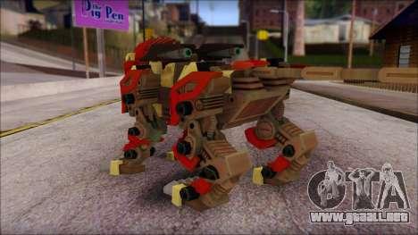 Liger Zero Zoids para GTA San Andreas segunda pantalla