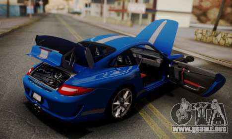 Porsche 911 GT3 RS4.0 2011 para vista inferior GTA San Andreas