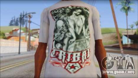 Tribal tee Mouse Inked White T-Shirt para GTA San Andreas tercera pantalla