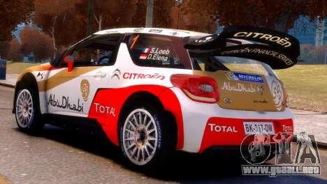 Citroen DS3 WRC para GTA 4 left