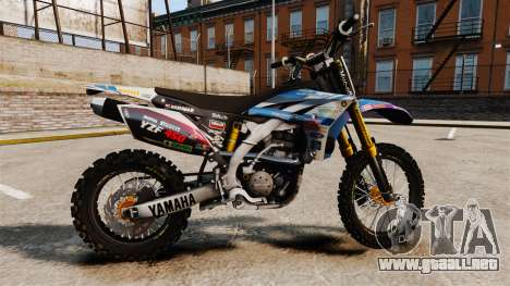 Yamaha YZF-450 v1.14 para GTA 4 left