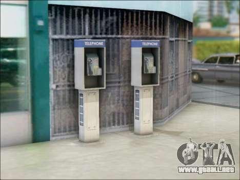 Calle de teléfono para GTA San Andreas sucesivamente de pantalla