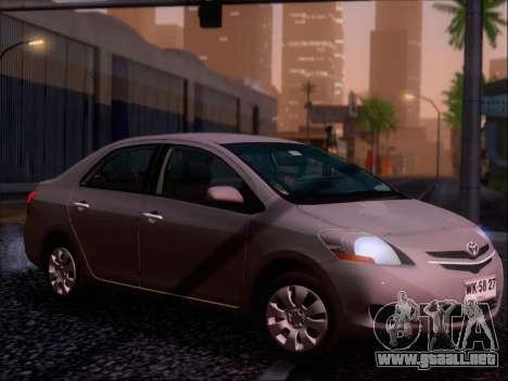 Toyota Yaris 2008 Sedan para el motor de GTA San Andreas
