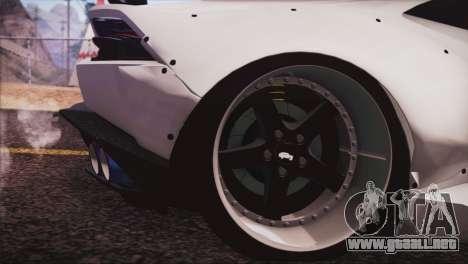 Lamborghini Huracan Liberty Walk para GTA San Andreas vista posterior izquierda