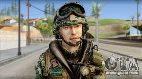 Forest UDT-SEAL ROK MC from Soldier Front 2 para GTA San Andreas tercera pantalla