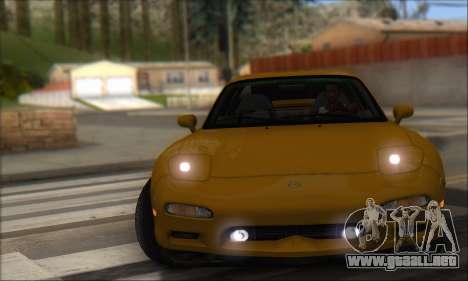 Mazda RX-7 1991 para GTA San Andreas vista posterior izquierda