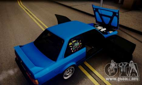 BMW M3 E30 para la vista superior GTA San Andreas