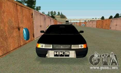 VAZ 21123 Turbo para GTA San Andreas vista hacia atrás