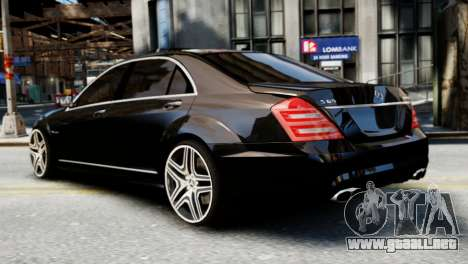 Mercedes-Benz S65 W221 AMG v1.3 para GTA 4 left