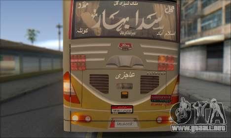 Sada Bahar Coach para GTA San Andreas vista hacia atrás