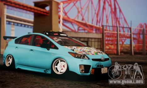 Toyota Prius Hybrid 2011 Helaflush para GTA San Andreas