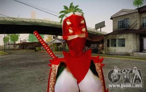 Hibana from Nigthshade of Shinobi para GTA San Andreas tercera pantalla