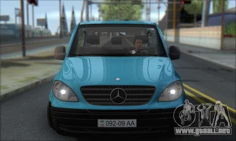 Mercedes-Benz 115 CDI Vito 2007 Stance para GTA San Andreas vista hacia atrás