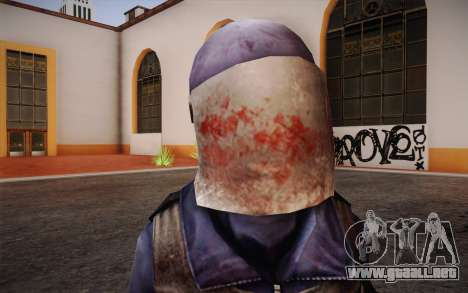 British Riot Police from Killing Floor para GTA San Andreas tercera pantalla