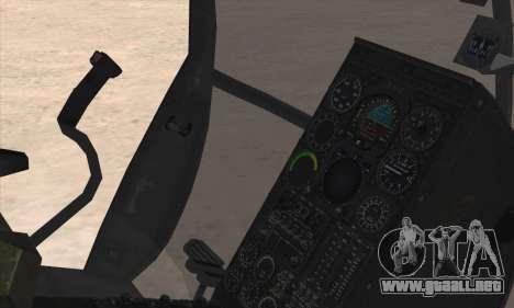 MH-6 Little Bird para GTA San Andreas vista posterior izquierda