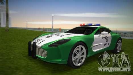 Aston Martin One-77 police para GTA Vice City