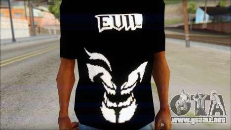 Evil T-Shirt para GTA San Andreas tercera pantalla