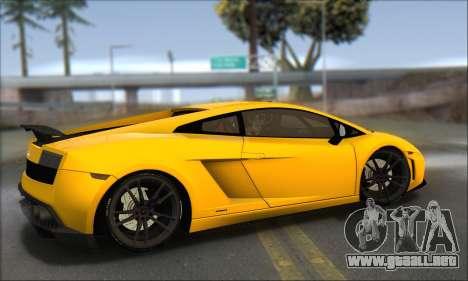 Lamborghini Gallardo LP570 Superleggera para GTA San Andreas vista posterior izquierda