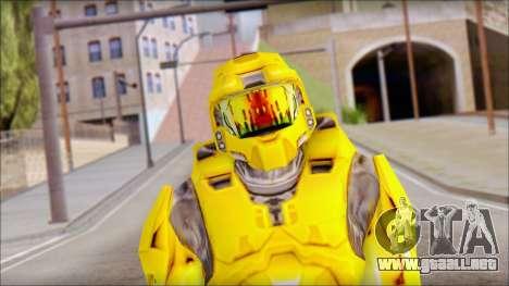 Masterchief Yellow from Halo para GTA San Andreas tercera pantalla