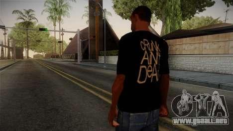 Crunk Aint Dead Shirt Black para GTA San Andreas segunda pantalla