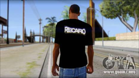 Recaro T-Shirt para GTA San Andreas segunda pantalla