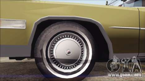 Cadillac Eldorado Stock para la visión correcta GTA San Andreas