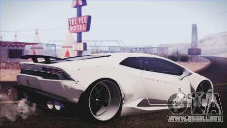 Lamborghini Huracan Liberty Walk para GTA San Andreas left