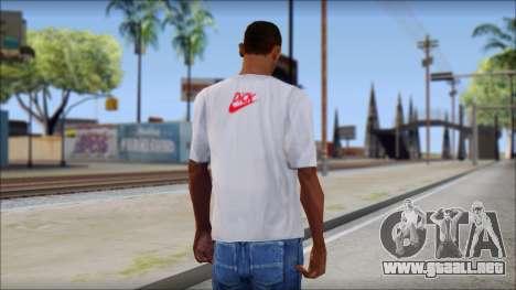 N1KE Head T-Shirt para GTA San Andreas segunda pantalla