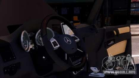 Mercedes-Benz G65 AMG v1.1 para GTA 4 vista interior