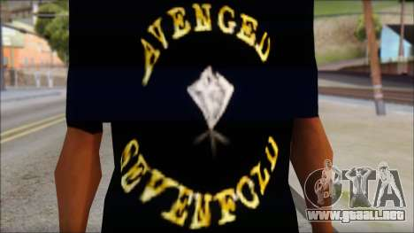 A7X Golden Deathbat Fan T-Shirt para GTA San Andreas tercera pantalla