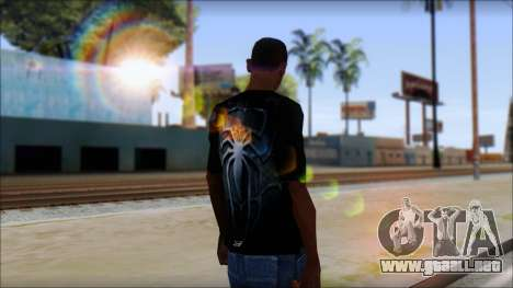 Spiderman 3 T-Shirt para GTA San Andreas segunda pantalla