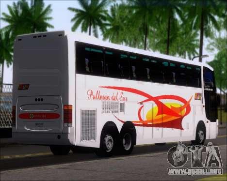 Busscar Jum Buss 400 Volvo B10R Pullman Del Sur para GTA San Andreas vista posterior izquierda