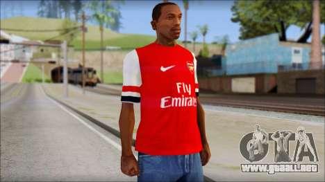 Arsenal FC Giroud T-Shirt para GTA San Andreas