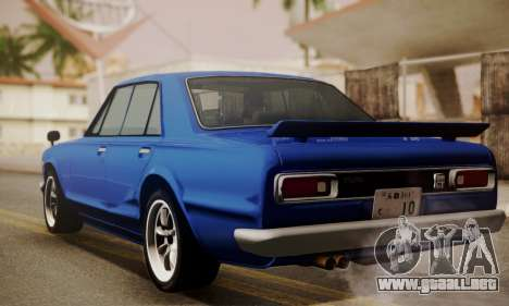 Nissan Skyline GC10 2000GT para GTA San Andreas left