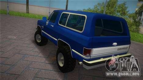 Chevrolet Blazer K5 Silverado 1986 para GTA Vice City left
