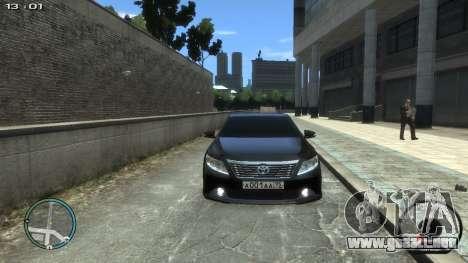 Toyota Camry 2013 para GTA 4 visión correcta