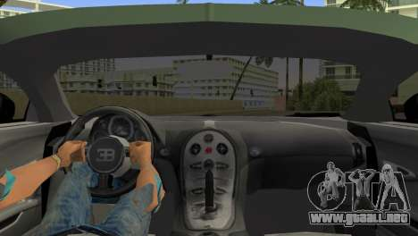 Bugatti Veyron para GTA Vice City vista lateral izquierdo
