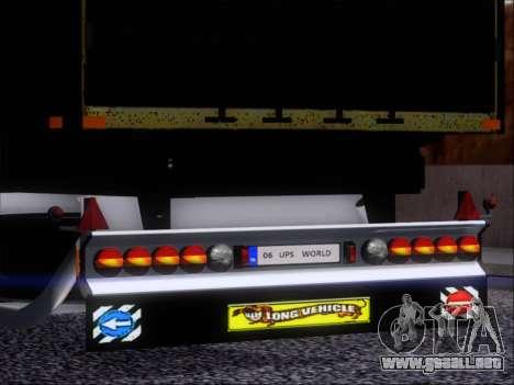 Прицеп United Parcel Service para visión interna GTA San Andreas