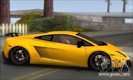 Lamborghini Gallardo LP570 Superleggera para GTA San Andreas vista hacia atrás