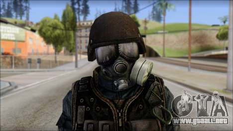 Tactical GIGN from Soldier Front 2 para GTA San Andreas tercera pantalla