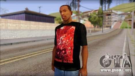 Kreator Shirt para GTA San Andreas