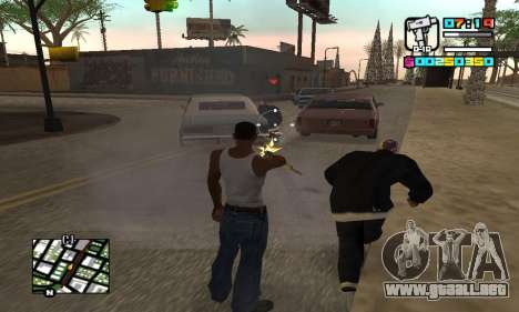 New HUD by Ptaxa1999 para GTA San Andreas sucesivamente de pantalla
